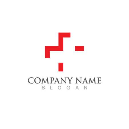 Hospital logo and symbol icon vector