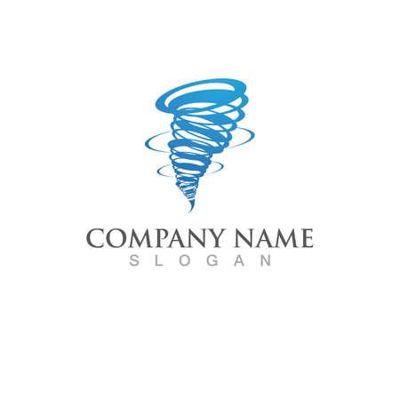 Tornado logo and symbol icon vector
