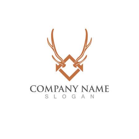 Deer Logo Template vector icon illustration design Ilustração