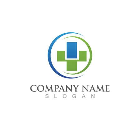Hospital logo Vector illustration design