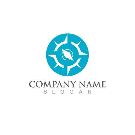 compass logo Vector illustration design