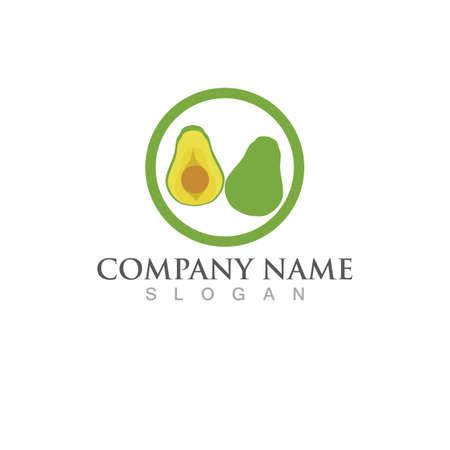 avocado logo and symbol vector