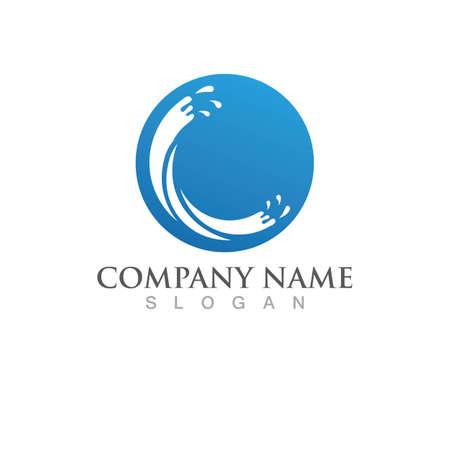 Splash water Logo Template vector illustration design