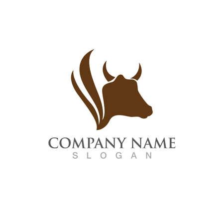Cow Logo Template vector icon illustration design Logó