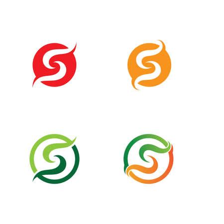 S letter logo Business corporate design vector