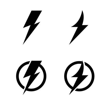 flash thunderbolt logo vector icon