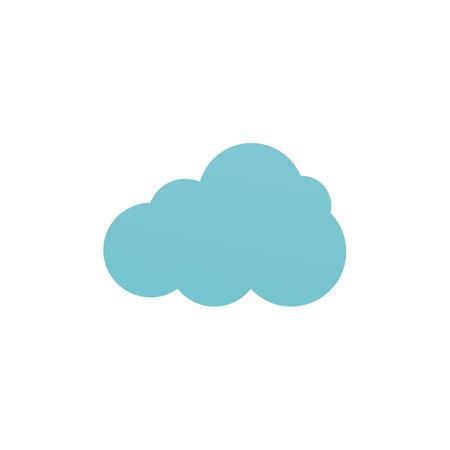 Cloud template vector icon illustration design