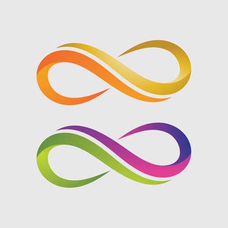 Infinity Design Vector icon illustration Logo template design