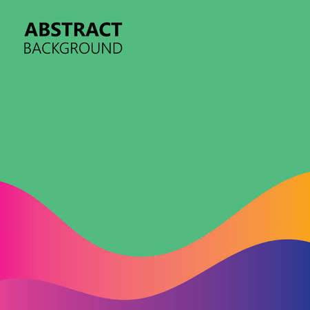 Background abstract color wave vector illustration
