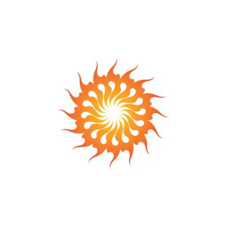 Sun Vector illustration Icon Logo Template design Stock Illustratie