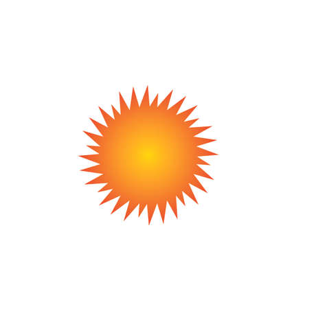 Sun Vector illustration Icon Logo Template design Stock Illustratie