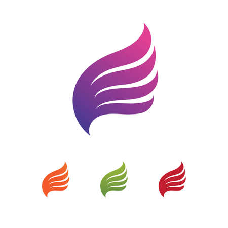 Falcon wing  Logo Template vector illustration design