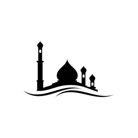 mosque logo and symbol vector Stock Illustratie