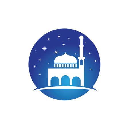 mosque logo and symbol vector Stock Illustratie