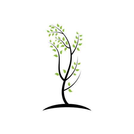 tree branch vector ilustration design template Stock Illustratie