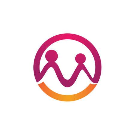 Adoption family care logo vector