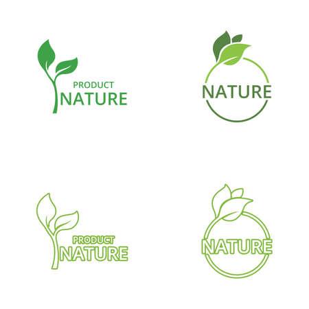 Green leaf nature logo ecology vector