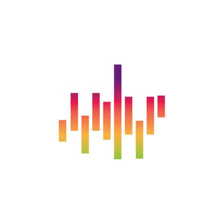 Sound waves logo line vector design template Vettoriali