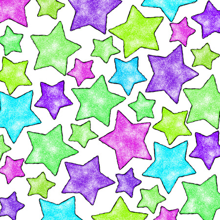 many colored: many colored stars on a light background