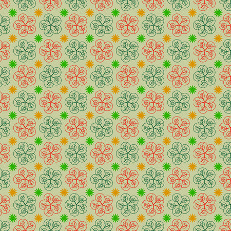 cuadros abstractos: fondo verde claro con pinturas abstractas
