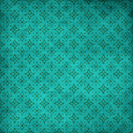 pressed: turquoise background with pressed ornament