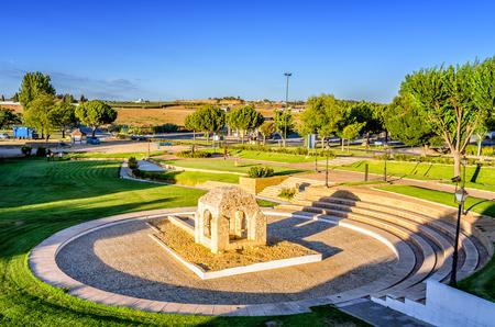 cristobal colon: Fontanilla, Palos de la Frontera, Spain Stock Photo