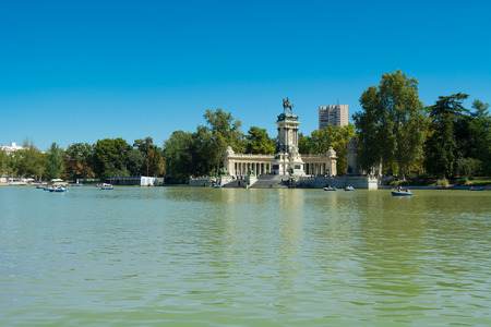 retreat: Pond of the Park of the Pleasant Retreat, Madrid, Spain
