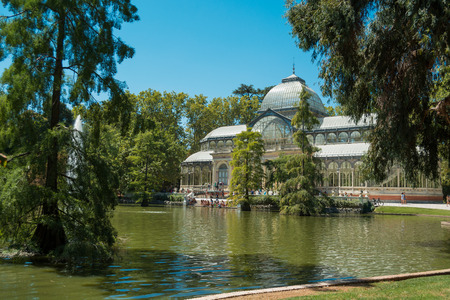 Crystal Palace and Pond - Park of the Pleasant Retreat, Madrid, Spain