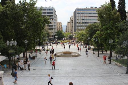 Big square in athens Editorial