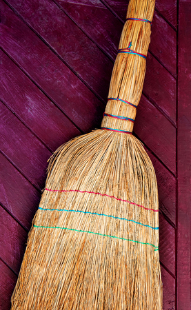 Brooms for cleaning, handmade. Made from sorghum.