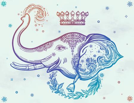 Decorative vector elephant