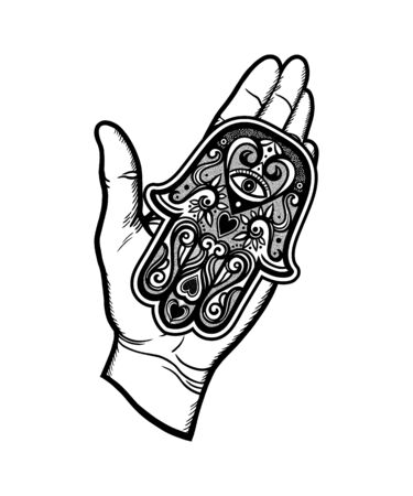 Amulet in the palm of your hand
