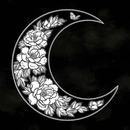 Beautiful romantic crescent moon