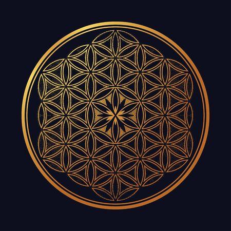 Flor de la vida: se forman círculos que se cruzan.