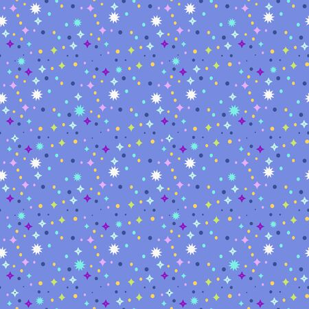 Night sky ornament. Decorative seamless pattern. Vintage vector wallpaper, decorative vector art.