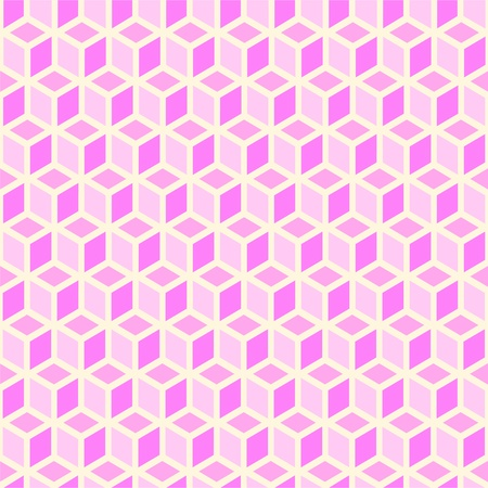 Trendy seamless pink background of cubes.Vector illustration Vector