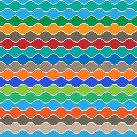Retro seamless pattern of waves.Vector background  Illustration