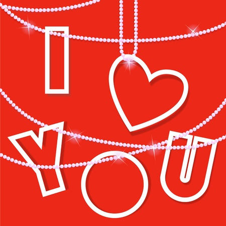 I love you .Creative vector card Vector
