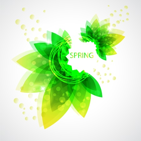 Spring Abstract flora background Illustration