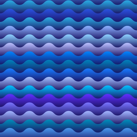 fascia:  Vector seamless pattern of  blue waves
