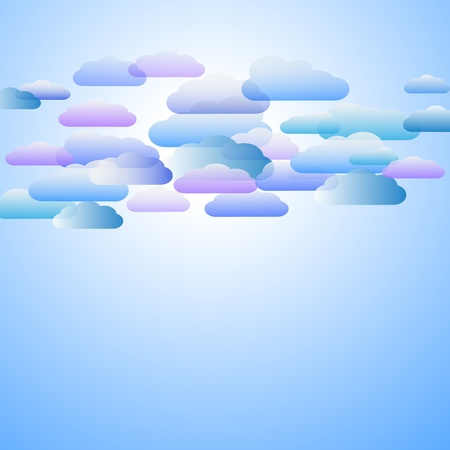 Blue sky background with clouds Vector eps10 Vector