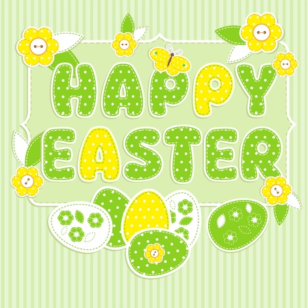 Greeting card for Easter in scrapbook style Vector