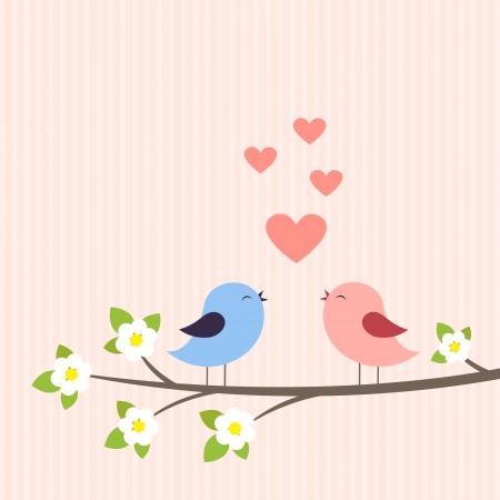 Couple of birds in love.
