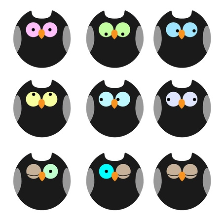 Various of owls Vector