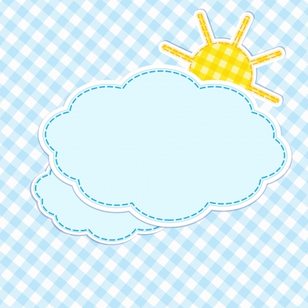 Frame with clouds and sun Vector