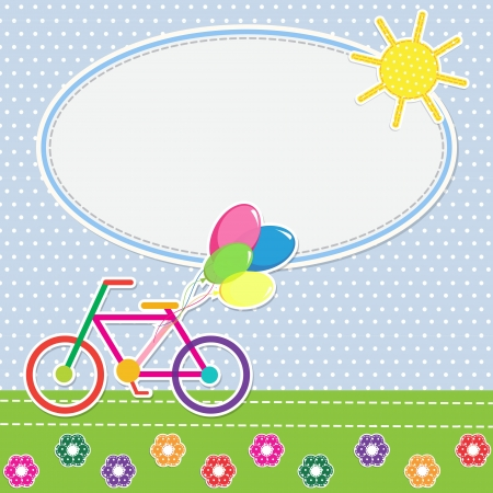 Frame colorful bike. illustration Vector