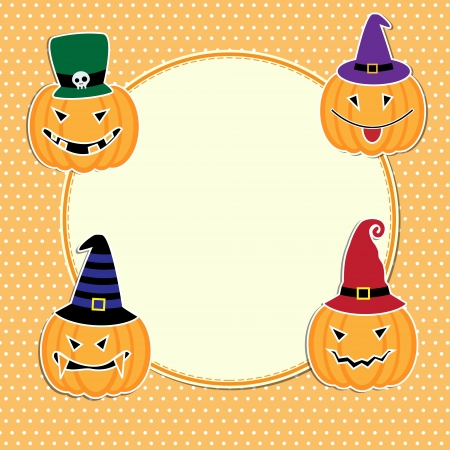 Cute Halloween card with space for text  Vector