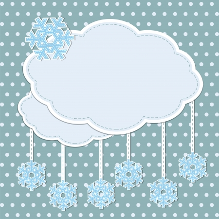 Winter frame with snowflakes Vector