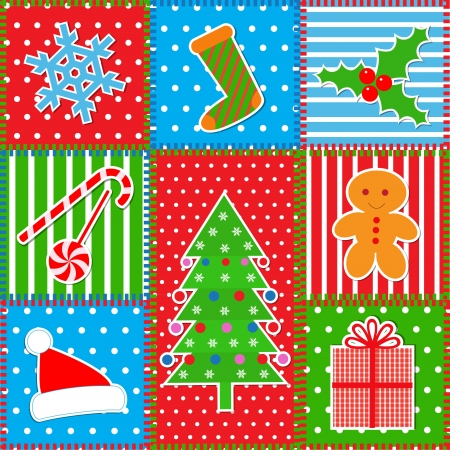 patchwork: Christmas patchwork background