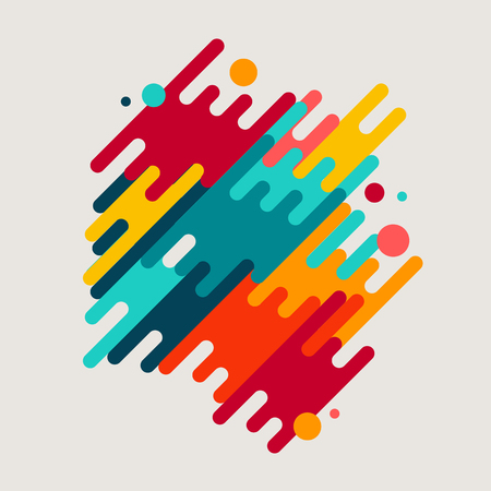 Abstract geometric motion shapes. Colorful dynamic geometric background. Vector template